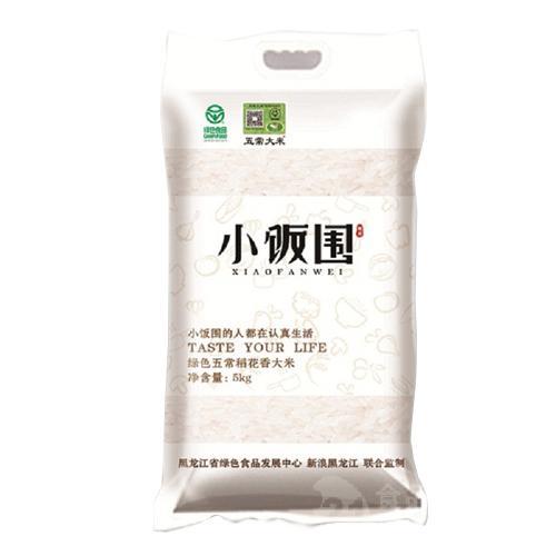 小饭围五常稻花香绿色大米家庭装5kg