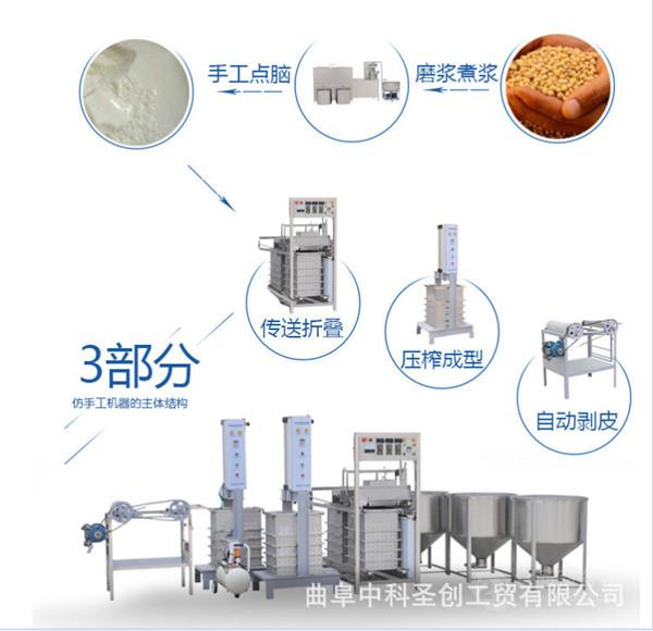 豆腐皮子小型生产机,千张机