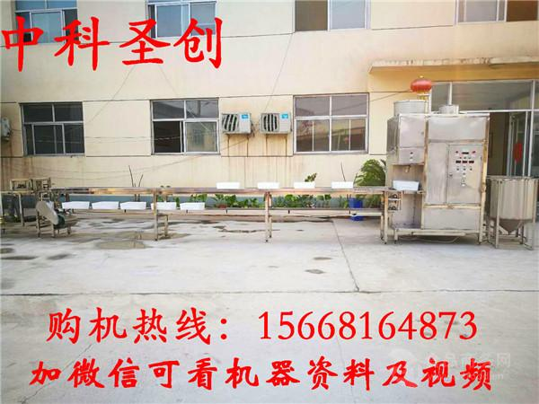 大型冲浆嫩豆腐机生产线价格 嫩豆腐设备