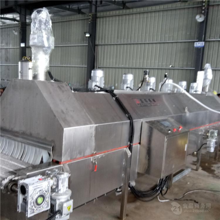 隧道式网带速冻机 压缩机 批量快速急冻 禽肉乳制品也可用 宏科