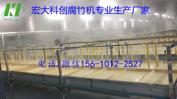 半自动腐竹油皮机 黑龙江腐竹揭皮机械 大型腐竹厂的选择