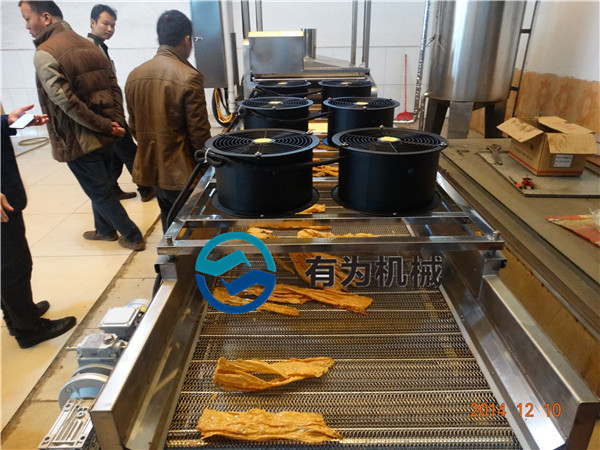 哪里有炸腐竹机器全自动腐竹豆腐皮生产线