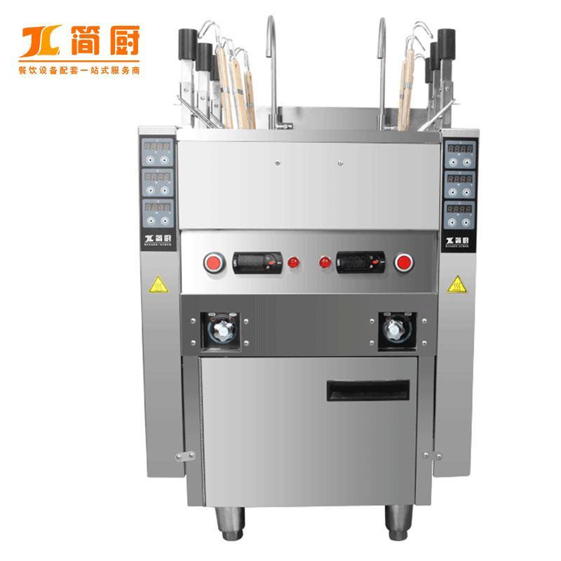 食品机械 通用设备 蒸煮设备 全自动升降六头煮面炉 电热保温节能煮面