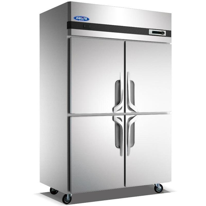 格林斯达四门冰箱 不锈钢四门冷柜 双机双温冰箱
