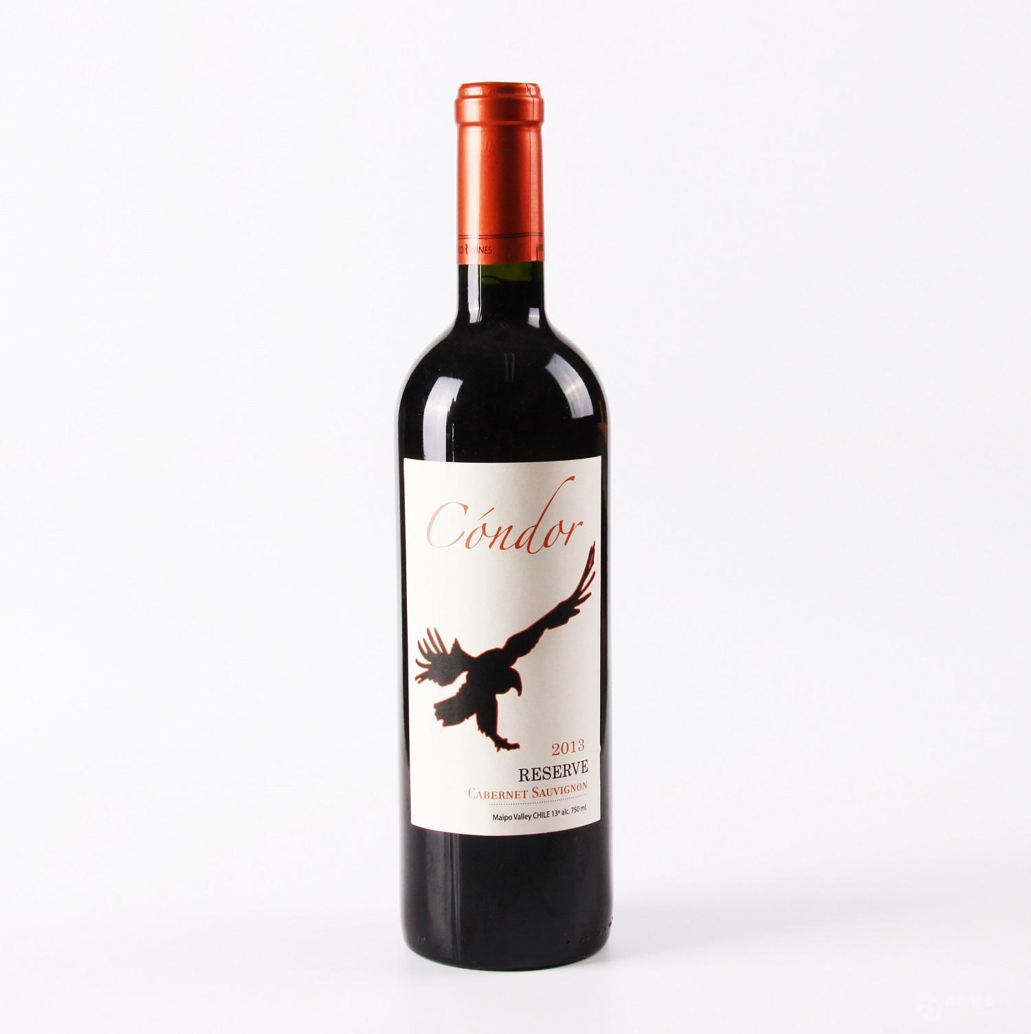 智利红酒批发#安第斯雄鹰(珍藏赤霞珠)#智利葡