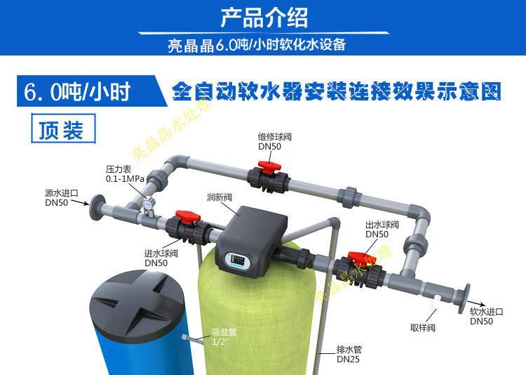 直径600*1850的软化罐  石英砂预处理罐  6t/h前置过滤器