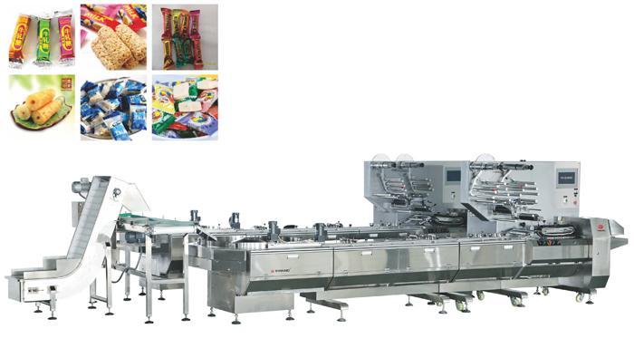 YW-ZL400A2全自动倾斜盘理料枕式包装机