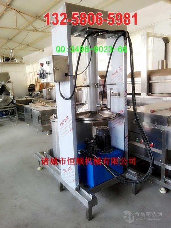 304材质自动下出料酱油挤压收汁压榨机