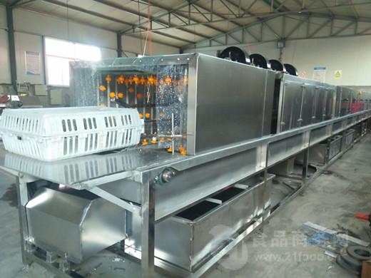 供应周转箱洗筐机厂家,高压喷淋周转箱清洗机