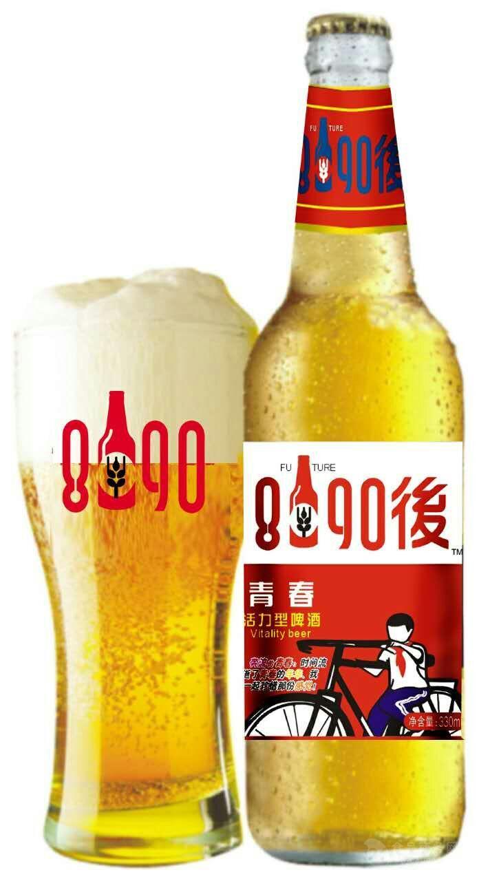8090后啤酒1x12瓶/箱
