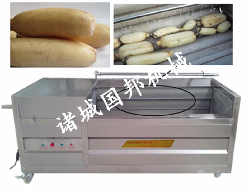 供应土豆清洗去皮机 毛刷去皮设备