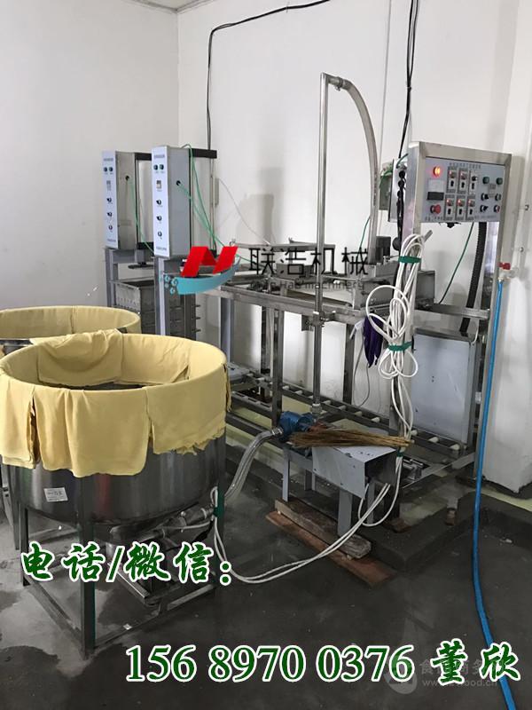 全自动仿手工豆腐皮机器,仿手工千张机械加工视频