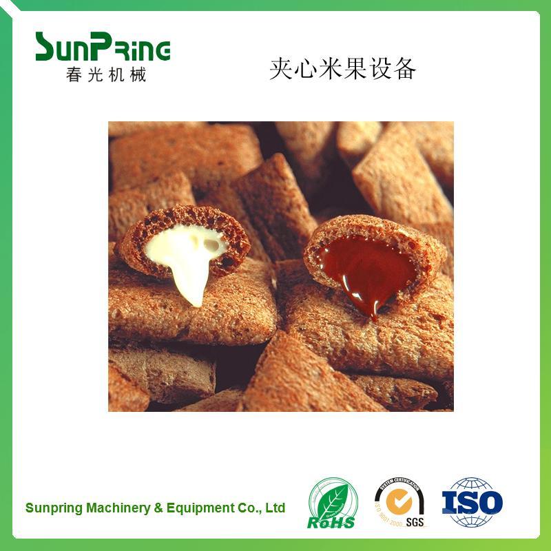 专业生产夹心米果设备生产线    质量保证