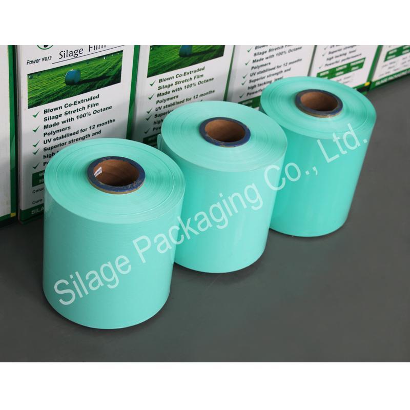 绿色 青贮牧草膜 出口日本标准 250mm 牧草打包塑料膜 可OEM定制