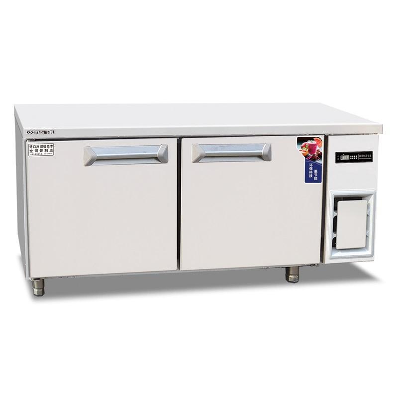 伯爵二门平台冷柜WF18 不锈钢二门冰箱