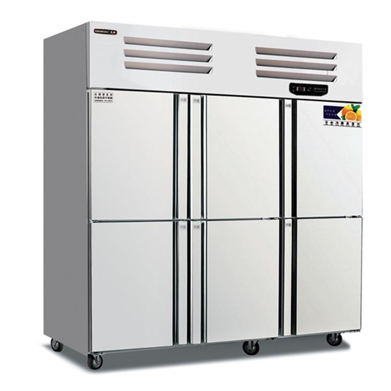 美厨六门冰箱 美厨标准款六门冷柜 不锈钢六门冰箱