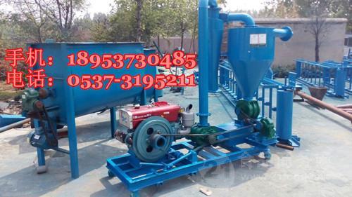 柴油动力气力吸粮机 风吸式水泥粉料抽料机