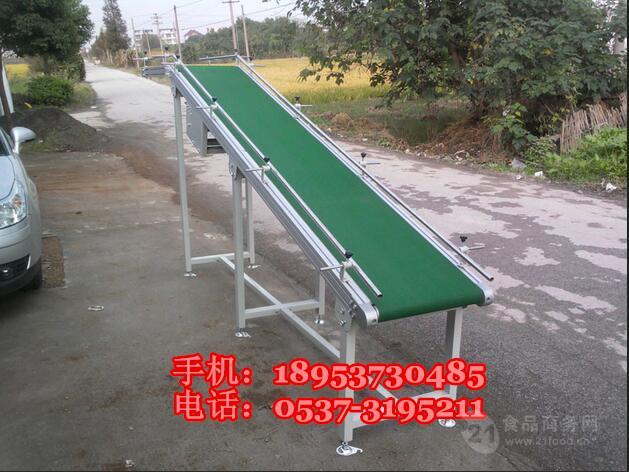 移动式铝型材输送机 爬坡皮带运输机 水平传送带