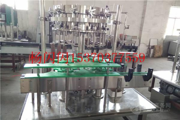 玻璃瓶含气饮料三合一灌装机生产线