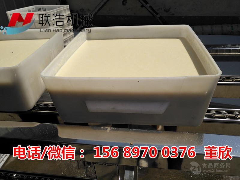 哪里有卖全自动冲浆豆腐机?板豆腐生产设备