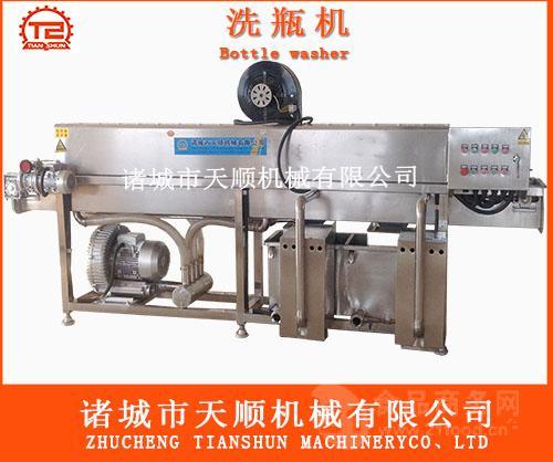 玻璃瓶清洗烘干机(天顺专业生产洗瓶机)