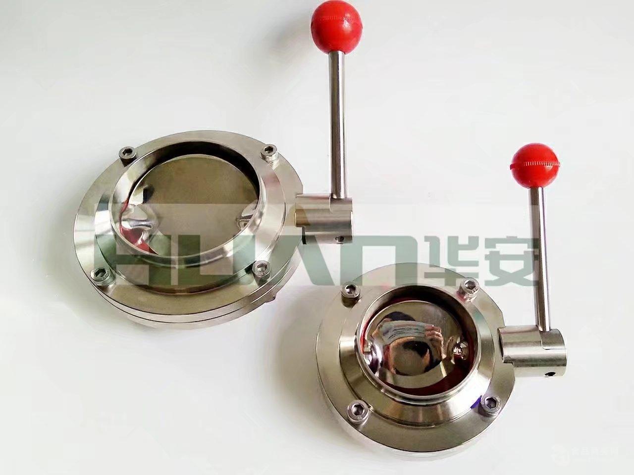 卫生级不锈钢对焊,焊接,氩弧焊蝶阀,乳品蝶阀,拉杆蝶阀