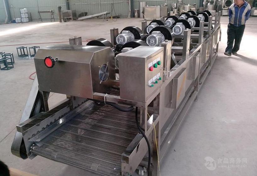 千叶豆腐丝摊凉机,豆腐干风干机,网带式风干机