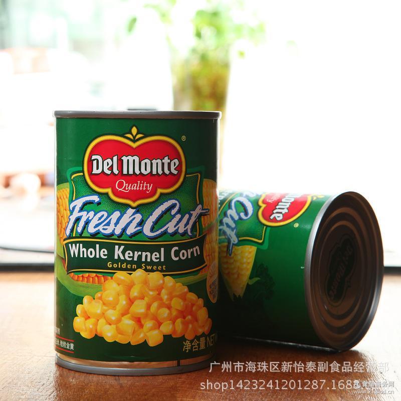 整件150元 泰国地扪玉米粒罐头 汤羹 沙拉 批萨原料420g*24