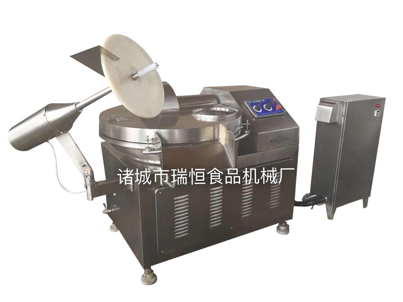 河南千页豆腐斩拌机、变频水冷豆干斩拌机