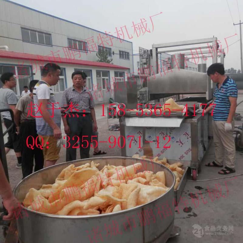 供应猪皮电加热油炸生产线多少钱   山东  油炸设备