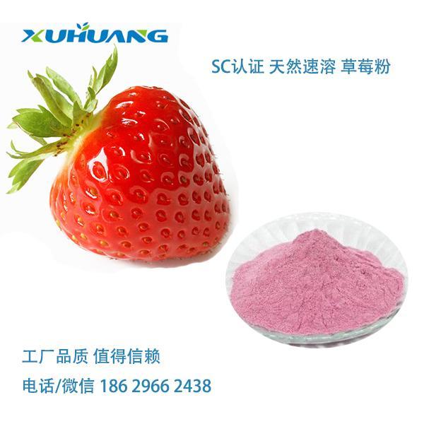 旭煌生物 厂家直销 天然提取物 优质无添加速溶草莓粉