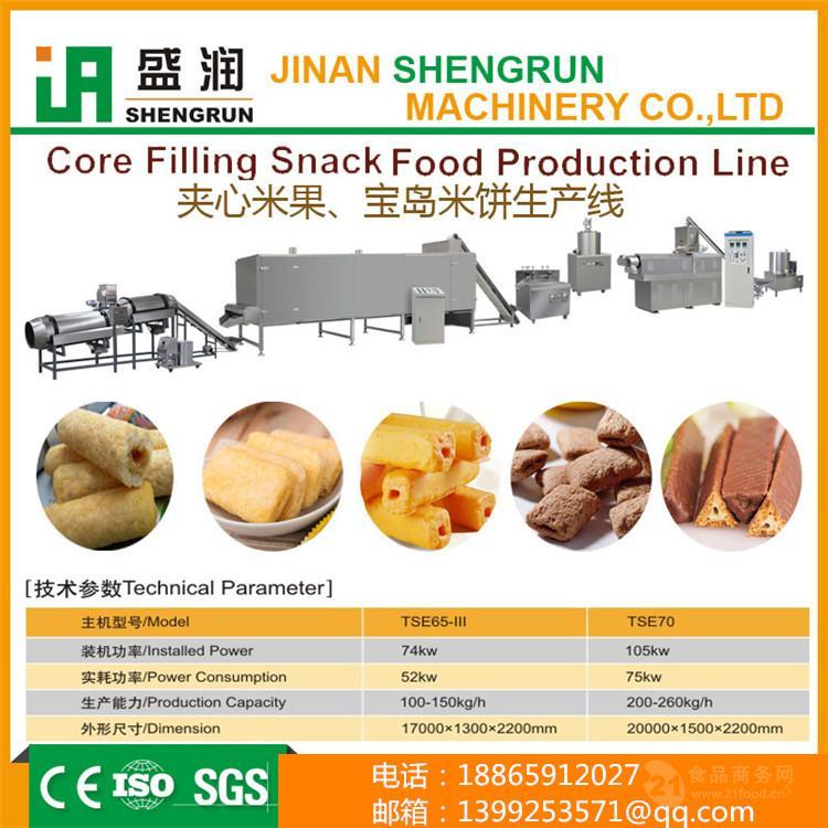 双螺杆TSE休闲食品加工设备膨化生产线