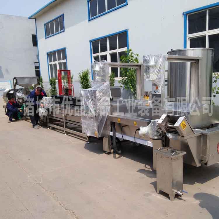 优品厂家直销脂渣油炸机 脂渣油炸设备 正宗油渣加工机器
