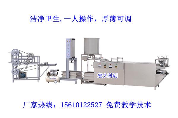 内蒙古全自动干豆腐机 仿手工豆腐皮机器 豆制品设备厂家