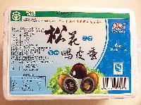 6枚1盒360克江西省农业龙头企业溢流松花天然鸭皮蛋工厂直销