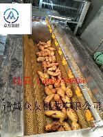 萝卜毛辊清洗机 食品餐饮果蔬机械设备 涡流清洗机 高压水流清