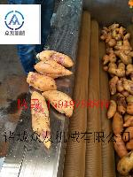 果蔬毛辊清洗机/自动翻转节能软毛刷清洗机
