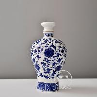 1-10斤青花装酒坛子酒罐子景德镇酒瓶来图来样个性定制批发