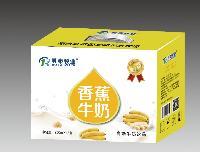 乳泰牧业 乳+系列 香蕉牛奶 250ml×12盒