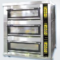 新麦三层九盘燃气烤箱SM-803TG