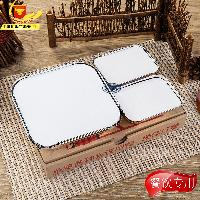 快餐盒商务一次性打包盒 套餐铝箔饭盒 外卖锡纸餐盒5