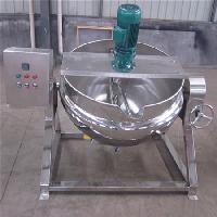 可倾式熬八宝粥用的夹层锅 200L搅拌功率1.5kw
