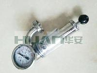 卫生级不锈钢啤酒发酵罐泄压阀,排气阀,保压阀带压力表