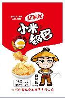 亿家红80克精装小米锅巴麻辣牛肉休闲零食