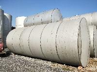 供应二手10立方不锈钢食品保温储罐、20吨316L立式储存罐