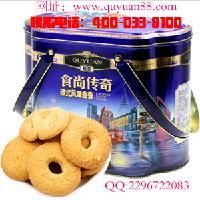广东趣园礼盒曲奇饼干铁罐装多规格整箱批发