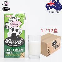 吉品/Gippy 全脂鲜牛奶 1L/12盒 澳大利亚原装进口 进口鲜牛奶