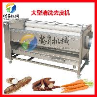 根茎瓜果清洗机 去皮机 脱皮机 毛刷清洗机 毛薯去毛机械