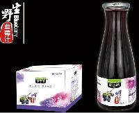 蓝百蓓1L玻璃瓶野生蓝莓果汁*
