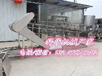 全自动豆腐丝机生产线带有气压压榨机双层扒皮机